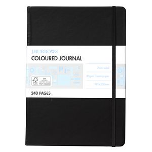 J.Burrows Large Coloured Journal 240 Pages Black