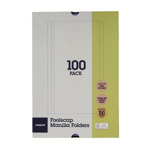 J.Burrows Manilla Folder Foolscap Purple 100 Pack