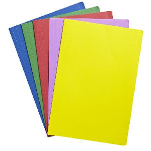 J.Burrows Manilla Folder Foolscap Assorted Colours 25 Pack
