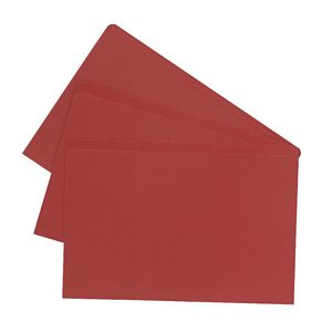 J.Burrows Manilla Folder Foolscap Red 25 Pack