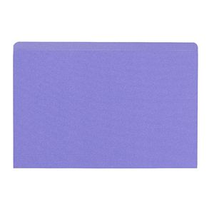 J.Burrows Foolscap Manilla Folder Purple