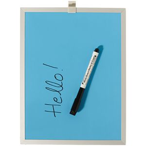 J.Burrows Aluminium Frame Magnetic Whiteboard Blue