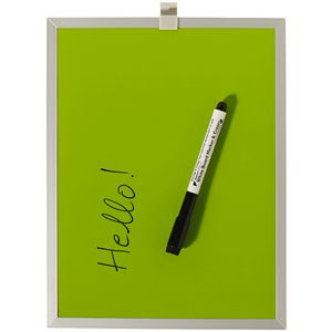 J.Burrows Aluminium Frame Magnetic Whiteboard Green