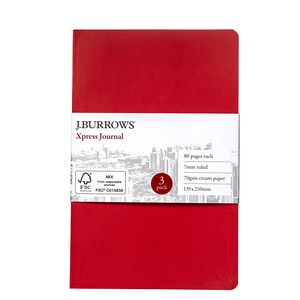 J.Burrows Medium Xpress Coloured Journal Red