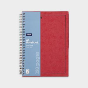 J.Burrows A5 Hard Cover Pressboard Notebook Red