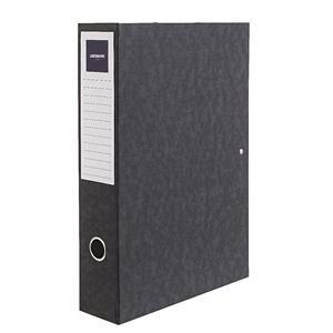 J.Burrows Foolscap Pressboard Box File Black