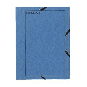 J.Burrows Pressboard Elastic File A4 Blue