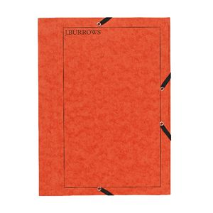 J.Burrows Pressboard Elastic File A4 Orange