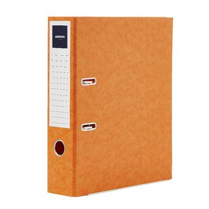 J.Burrows Pressboard Lever Arch File A4 2 Ring Orange