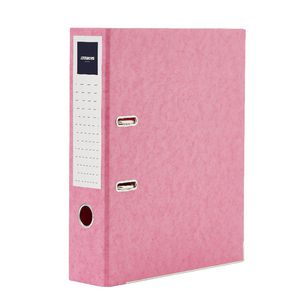 J.Burrows Pressboard Lever Arch File A4 2 Ring Pink
