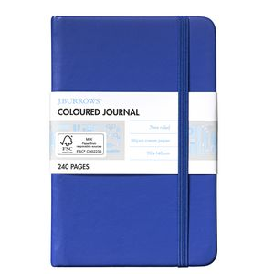 J.Burrows Pocket Coloured Journal 240 Page Blue