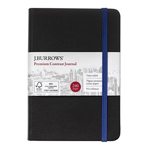 J.Burrows Pocket Colour Contrast Journal 240 Page Blue