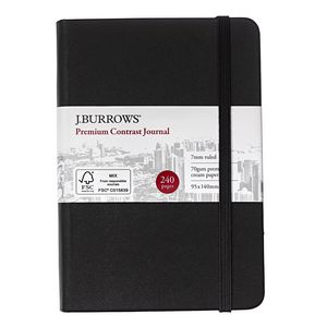 J.Burrows Pocket Colour Contrast Journal 240 Page Black