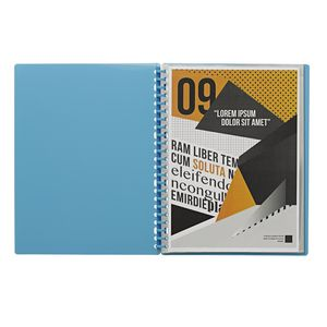 J.Burrows Display Book A4 20 Pocket Refillable Aqua