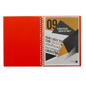 J.Burrows Display Book A4 20 Pocket Refillable Orange