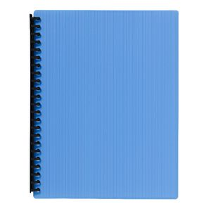 J.Burrows Display Book A4 20 Pocket Refillable Embossed Blue
