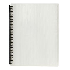 J.Burrows Display Book A4 20 Pocket Refillable Embossed Clear