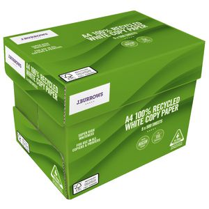 J.Burrows Premium 100% Recycled A4 Paper Carton