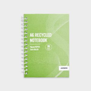 J Burrows A6 Recycled Spiral Notebook 96 Page