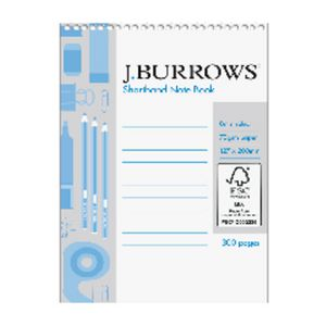 J Burrows Shortand Notebook 300 Page