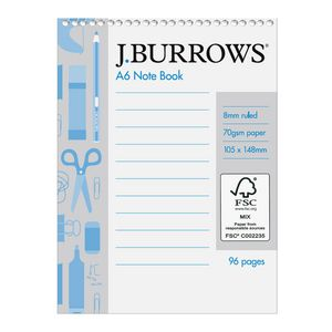J Burrows A6 Pocket Notebook 96 Page
