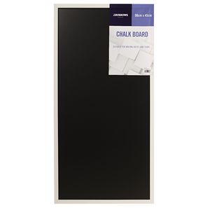 J.Burrows White Wooden Frame Chalkboard