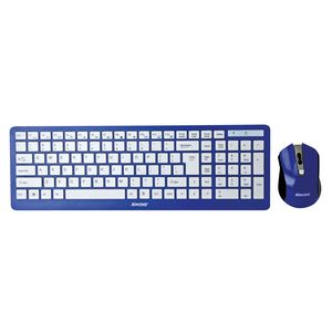 Jenkins CB06 Blue Wireless keyboard and mouse set