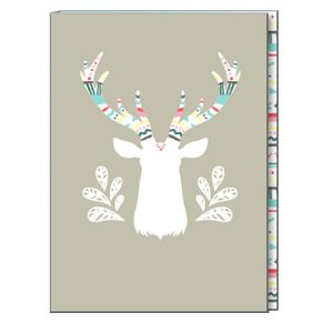 "6"" x 8"" Journal Printed Craft Paper Cover Grey Back 240 Pages"
