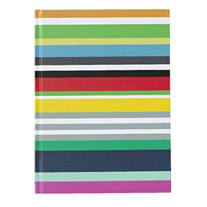 "6 x 8"" Fun Journal Coloured Stripes 240 Page"