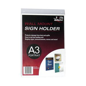 deflect-O Wall Mount A3 Sign Holder Portrait