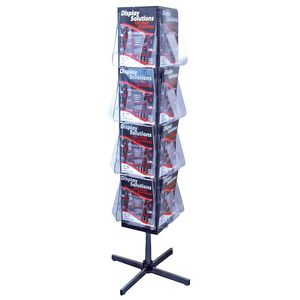 deflect-O Rotating Floor Standing Brochure Holder A4 16