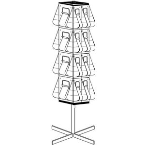deflect-O Rotating Floor Standing Brochure Holder 16 x 4