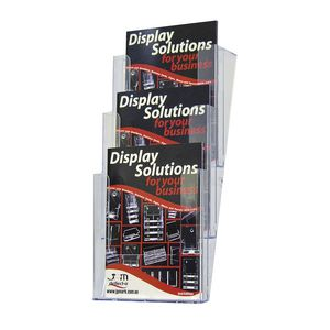deflect-O A4 Portrait Wall Mount Brochure Holder Clear