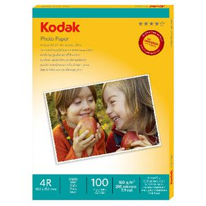 "Kodak 4 x 6"" Matte Photo Paper 100 Sheets"