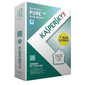 Kaspersky Pure 3.0 Computing Security Software 3 PCs