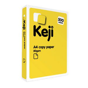 Keji 80gsm A4 Copy Paper 500 Sheet Ream