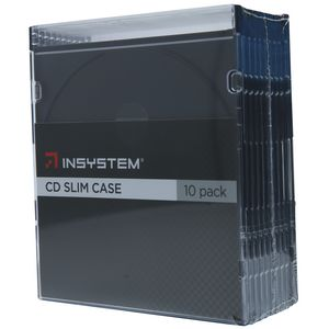 InSystem Slim CD Cases Black 10 Pack