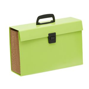 Keji Expanding File Foolscap 19 Pocket Green