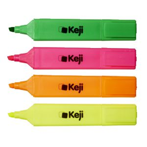 Keji Highlighters Assorted 4 Pack