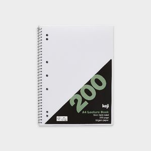 A4 Spiral PP Lecture Book 200 Page