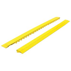 Mattek 975 x 75mm Female Edge Piece with Corner Yellow