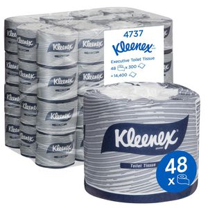 Kleenex 2 Ply Executive Toilet Paper Roll 300 Sheet 48 Pack
