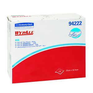 Wypall X60 Pop-up Box Wipers White 130 Pack