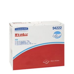 Wypall X60 Single Sheet Wipers White