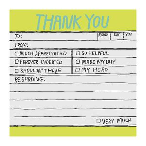 Knock Knock Sticky Notes Hand Lettered Thank You