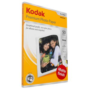Kodak A4 Matte Premium Photo Paper 50 Pack