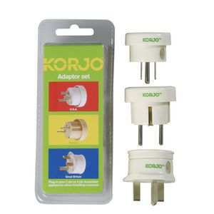 Korjo Outbound Multi Travel Adaptor Set of 3