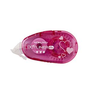 Kokuyo DotLiner Glue Tape Cute Heart 8.4mm x 8m Pink