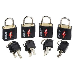 Korjo TSA Keyed Luggage Lock 4 Pack