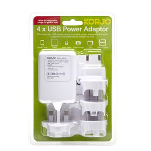 Korjo 4 Port Usb Power Adaptor